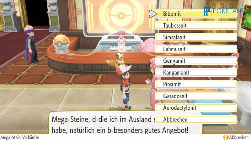 Pokemon lets go mega steine