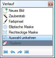 Paint.NET - Verlauf-Fenster