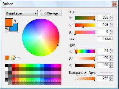 Paint.NET - Farben