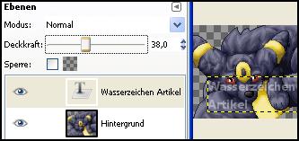 Beispiel in GIMP