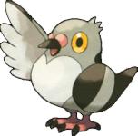 Vogel-Pokémon Mamepato aus den Schwarz/Weiß-Editionen