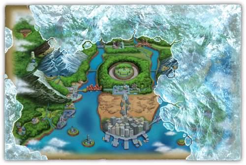 Die Einall-Region in Pokémon Schwarz und Weiß 2