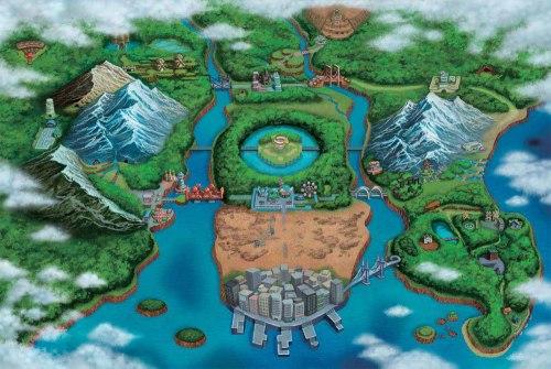Die Einall-Region in Pokémon Schwarz und Weiß