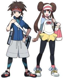 Protagonisten aus Pokémon Schwarz und Weiß 2
