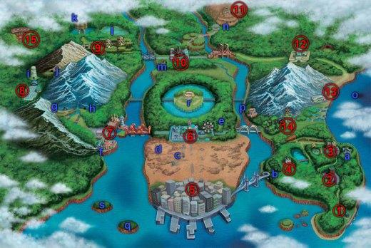 Region Einall in Pokémon Schwarz und Weiß