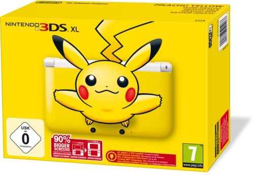 Pikachu Sonderedition des Nintendo 3DS XL