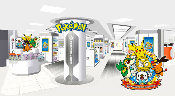 Das neue Pokémon Center Nagoya mit neuem Logo
