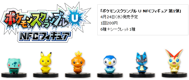 6 NFC-Figuren für Pokémon Rumble U