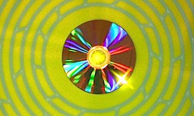 Scanne einen runden Gegenstand (etwa eine CD)...
