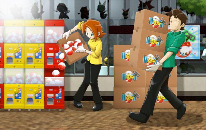 NFC-Figuren Automaten werden befüllt und ein Blick in den Spielzeug Laden.