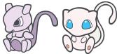 Mewtu und Mew-Doll