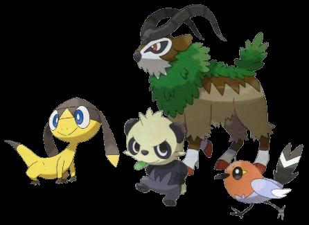 Vier neue Pokémon: Elikiteru, Yancham, Googooto und Yayakoma
