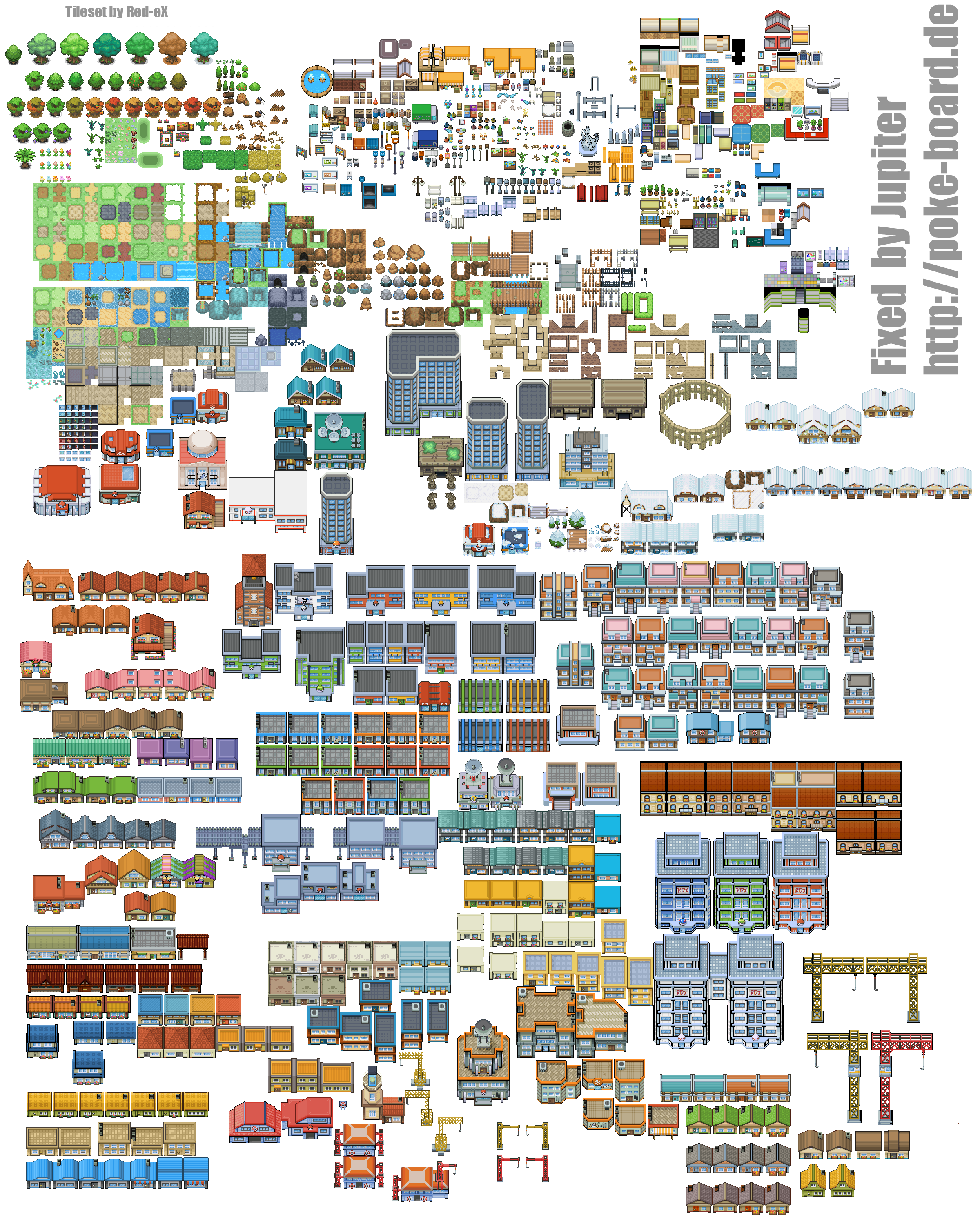 Pokemon Map Tilesets Images Pokemon Images
