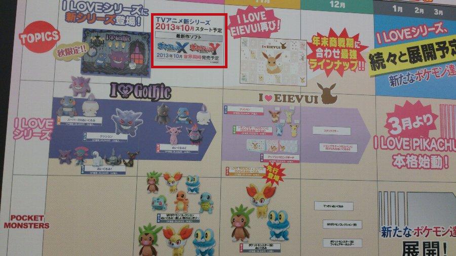 Banpresto Broschüre mit X und Y-Anime