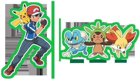 Ash und die Kalos Starter Igamaro, Fynx und Froxy