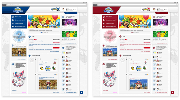 Der Pokémon Global Link im neuen Design