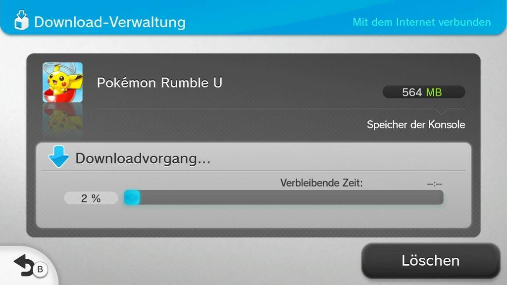 Rumble U Download im Nintendo eShop der Wii U