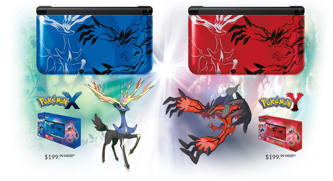 Nintendo 3DS XL im X/Y-Design