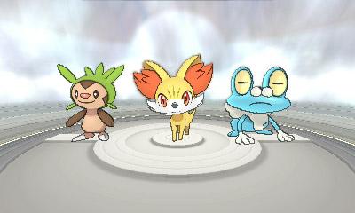 Die Starterauswahl der Kalos-Pokémon