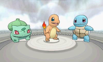 Die Starterauswahl der Kanto-Pokémon
