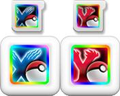 Icons und Speicherkarten von Pokémon X und Y