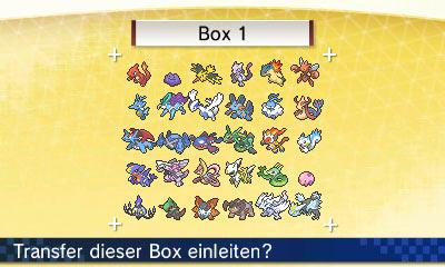 Screenshot beim Nutzen des PokéMovers