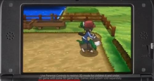 Hinweis im amerikanischen Trailer zu Pokémon X und Y: 2D game with some 3D game play.