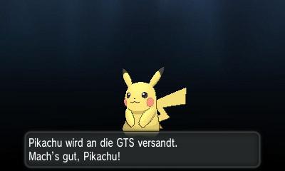 Sag deinem Pikachu ein letztes mal Lebe wohl.