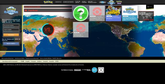 Derzeitiger Pokémon Global Link