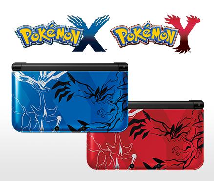 Nintendo 3DS XL varianten in rot und blau