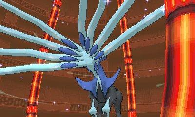 Xerneas kurz vor dem Kampf in dem Spiel Pokémon X