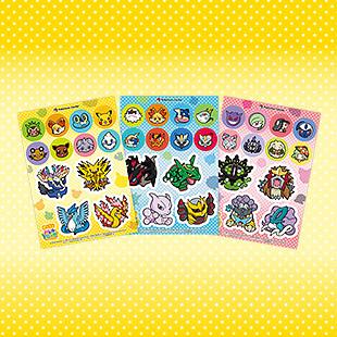 Viele tolle Sticker im Design von Pokémon Link: Battle!