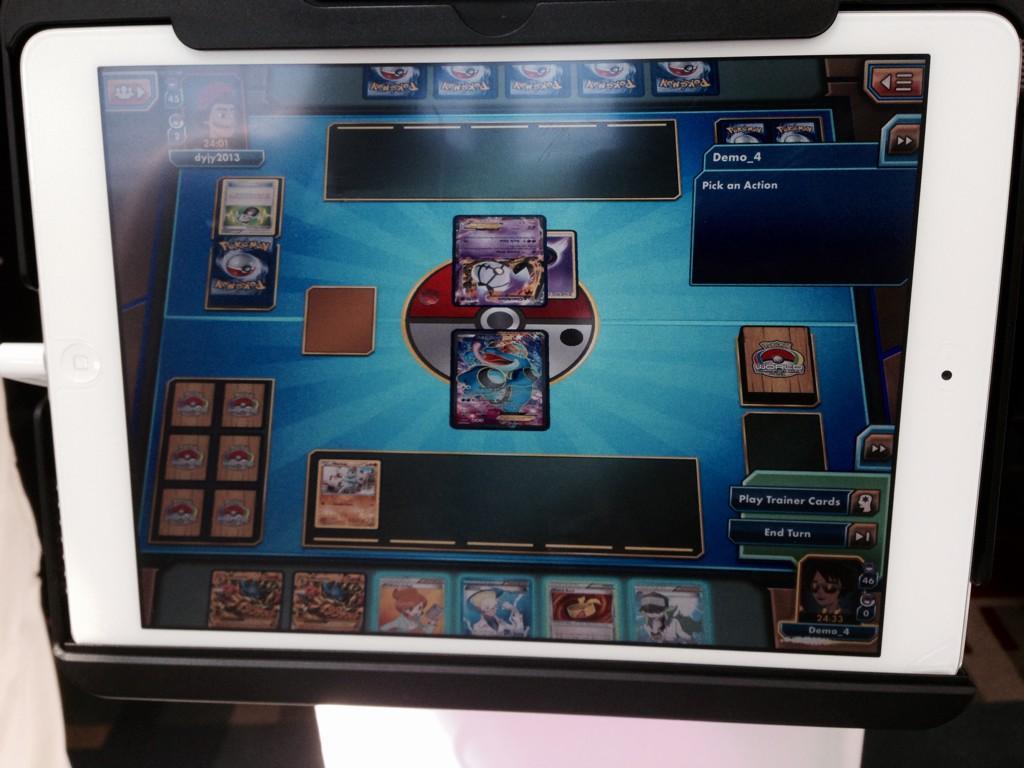 Foto des ausgestellten iPads