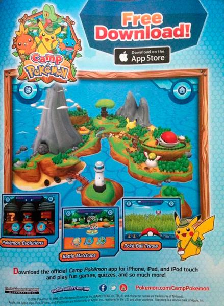 Werbung für Camp Pokémon